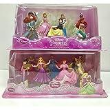 Bundle - 2 Items: Disney Princess Mini-figure Play Sets #1 and #2 - 14 Pc.