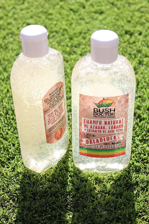 Organic Hemp Dreadlocks Shampoo (100% Residue Free) - Champú Orgánico de Cañamo y Aloe Vera