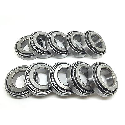 (Set of 10) Trailer Hub Wheel Bearing Set A14 WPS (TM) L44643 L44610 for 2000# Axle I.D. 1.00 inch: Automotive