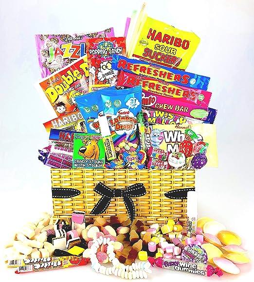 Único Retro Sweet & Chocolate cesta caja – Old School favoritos ...