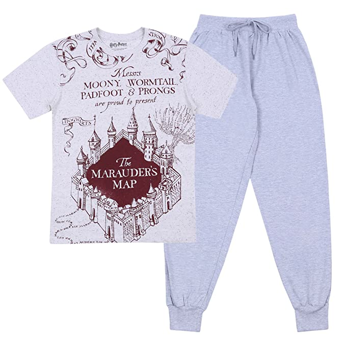 Harry Potter - Hogwarts - Pijama - para Hombre Gris X-Small