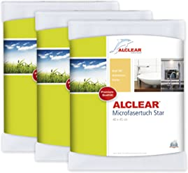 ALCLEAR 950006 Ultra-microfiber special Cloth Star for Bathroom and Kitchen care. White.