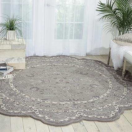 free form rug  Amazon.com: Nourison Heritage Hall (HE8) Steel Free Form ...