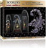 SCORPIO - Coffret 3 produits pour homme - Noir Absolu - Eau de toilette flacon 75ml , Gel Douche 250ml &  Déodorant atomiseur 150ml