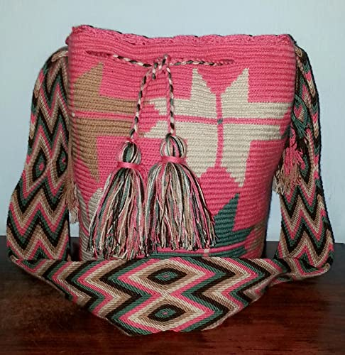 Amazon.com: Mochila Wayuu Bag 100% Handmade by Realwayuu. Large Size Boho Bag, Suzu Bag, Shoulder Bag. FREE SHIPPING WITHIN THE US.: Handmade