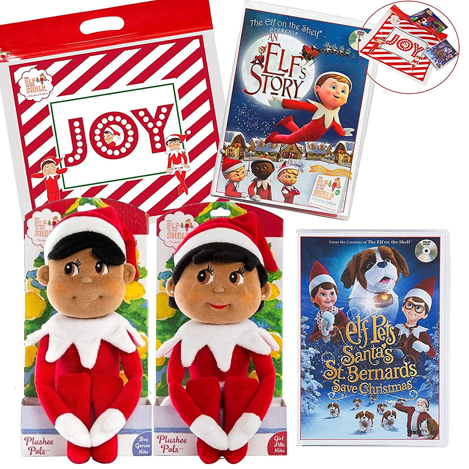 Amazon The Elf on the Shelf Girl and Boy Plushee Pal Dark with