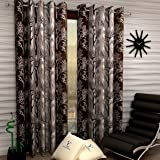 Fashion String 2 Pieces Window Curtain Set, 5 feet long ,Brown