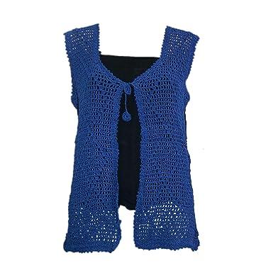 Amazon.com: Crochet Para Mujer chaqueta de punto, tela a ...