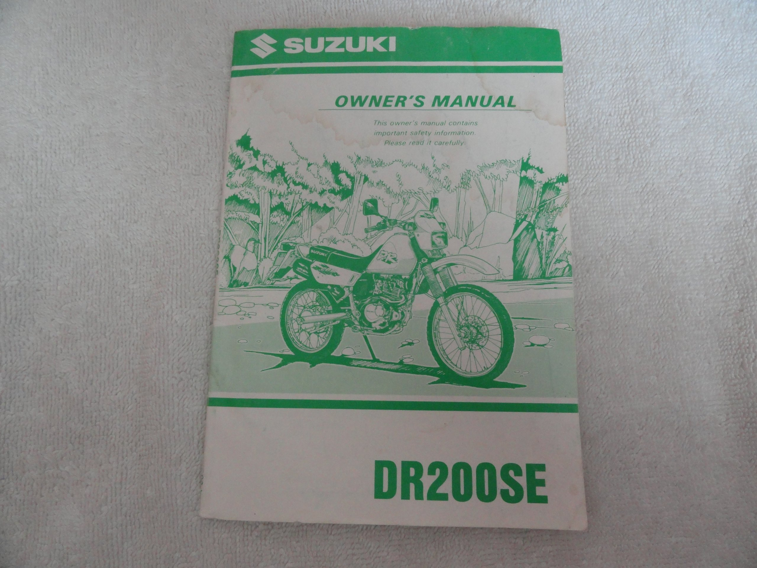 1998 1999 Suzuki DR200 Owners Manual DR 200 SE: Suzuki: Amazon.com: Books