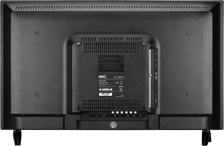 Hkc 32c9a 80 Cm 31 5 Pouces Led Téléviseur Hd Ready Triple Tuner Dvb T2 T C S2 S Ci Lecteur Multimédia Via Port Usb Classe énergétique A Amazon Fr High Tech