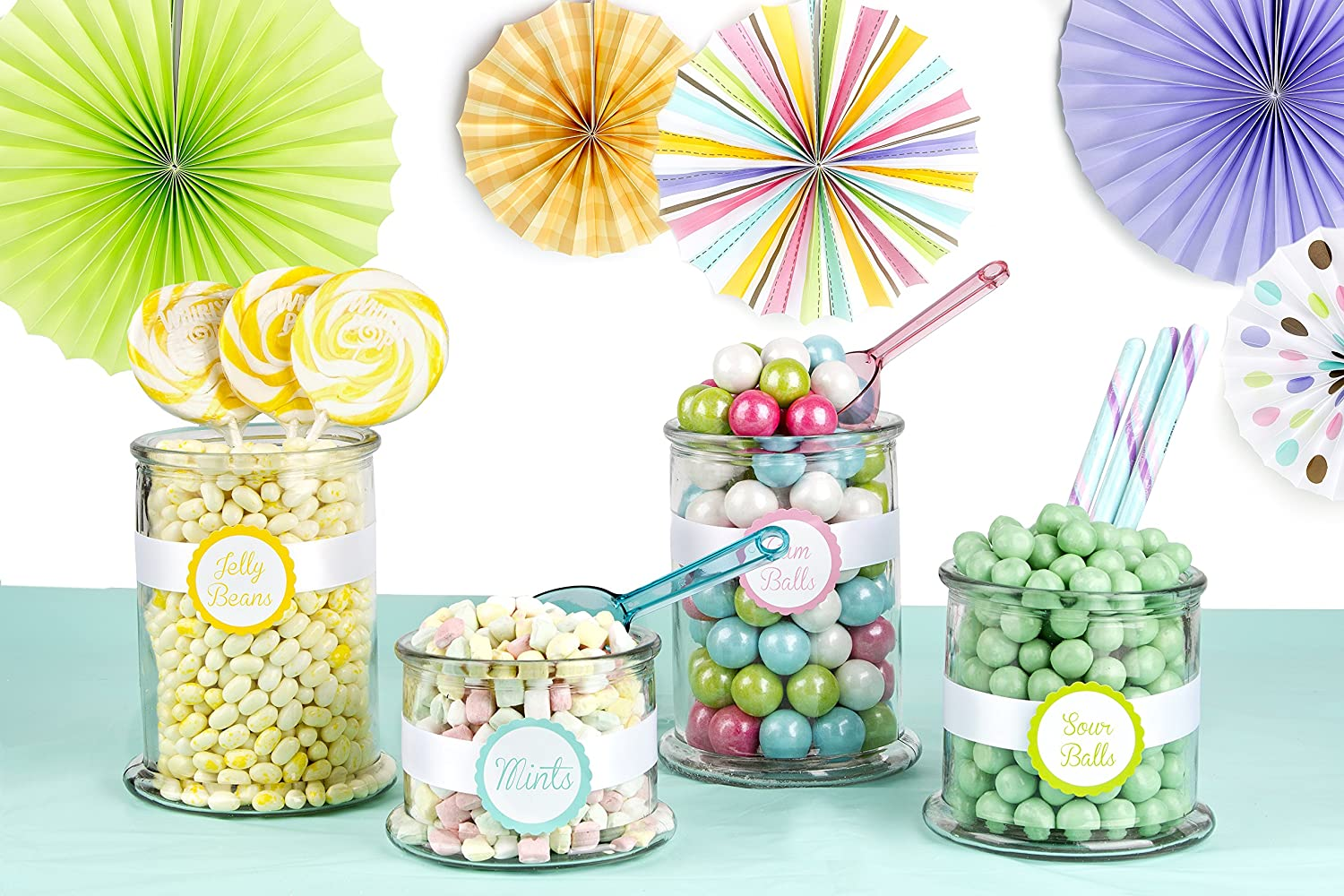 Amazon.com : DIY Baby Shower Candy Buffet Kit - Pastel Colors - Feeds 20-25  People - Oh! Nuts : Grocery & Gourmet Food