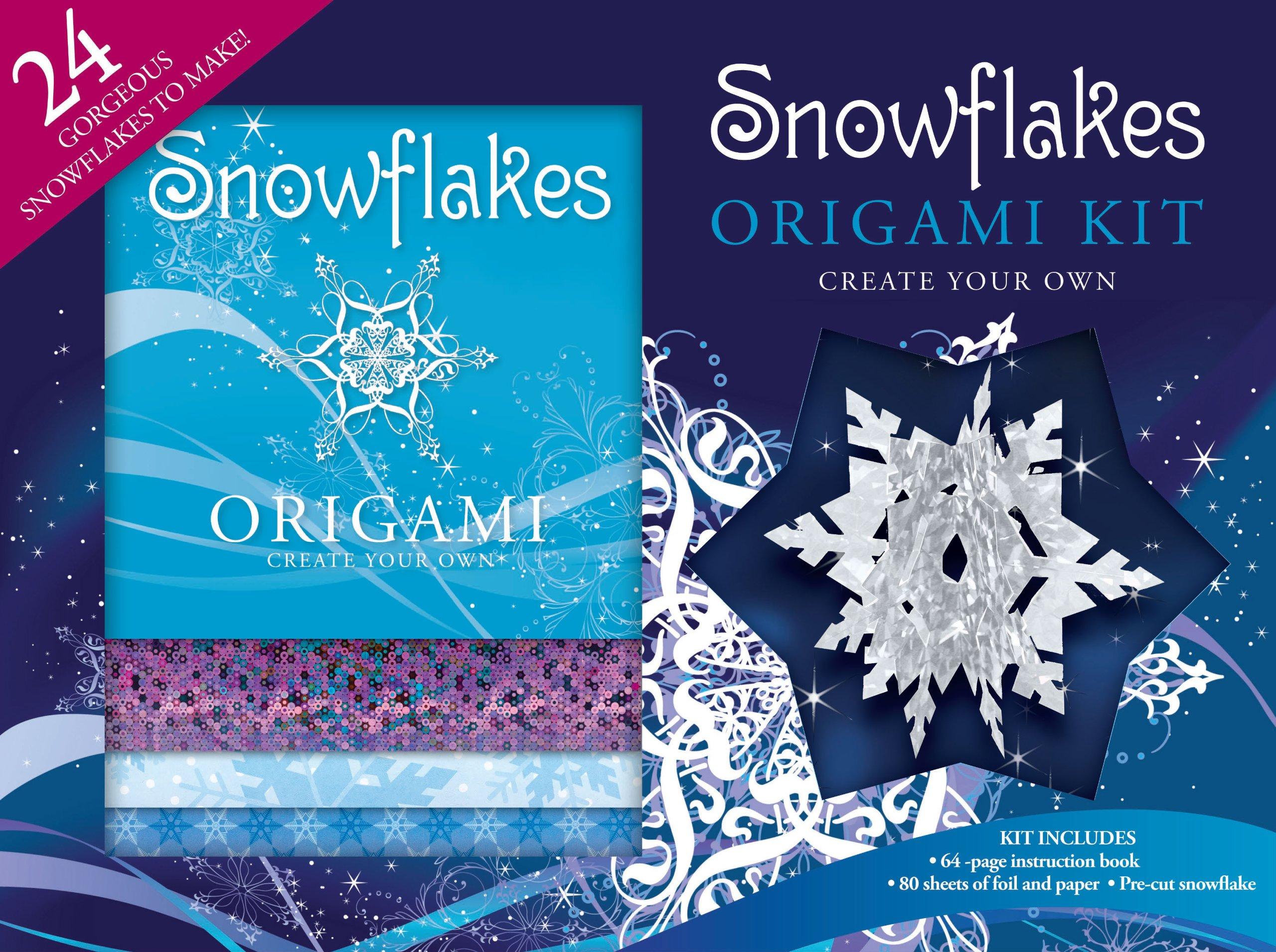 Snowflakes Origami Gift Box Series Hinkler Books Pty Ltd