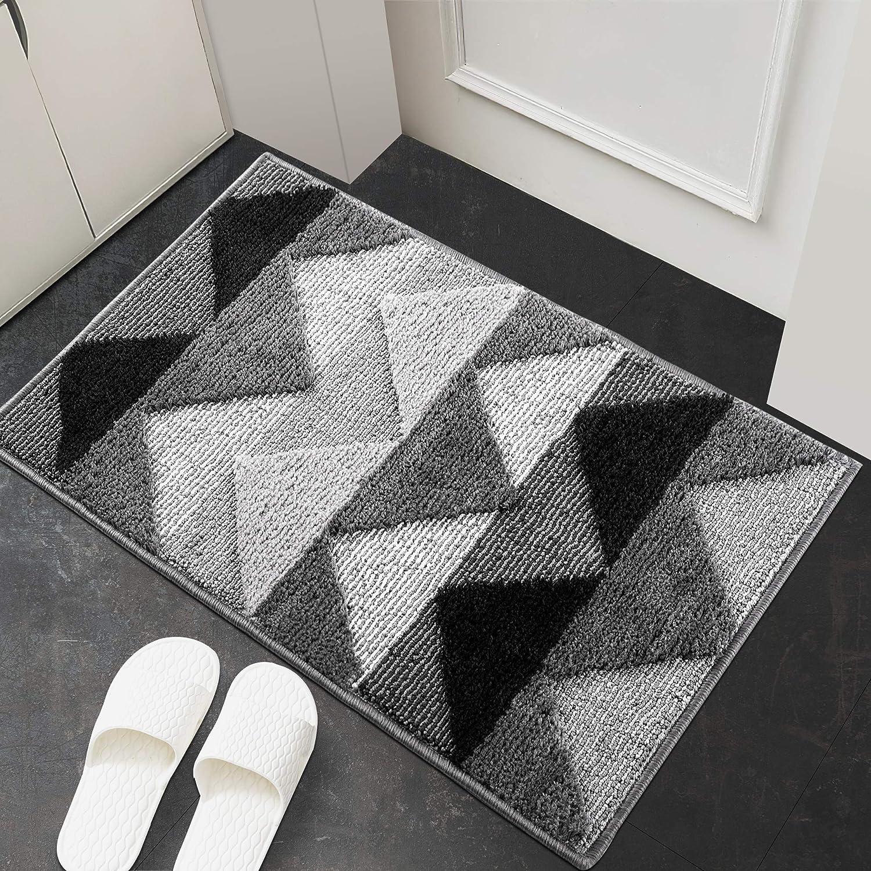 """Indoor Doormat,Front Back Door Mat Rubber Backing Non Slip Door Mats 24""""x35"""" Absorbent Resist Dirt Entrance Doormat Inside Floor Mats Area Rug for Entryway Machine Washable Low-Profile"""