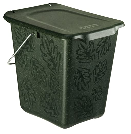 compost bin greenline 7 litres made of organic materials green