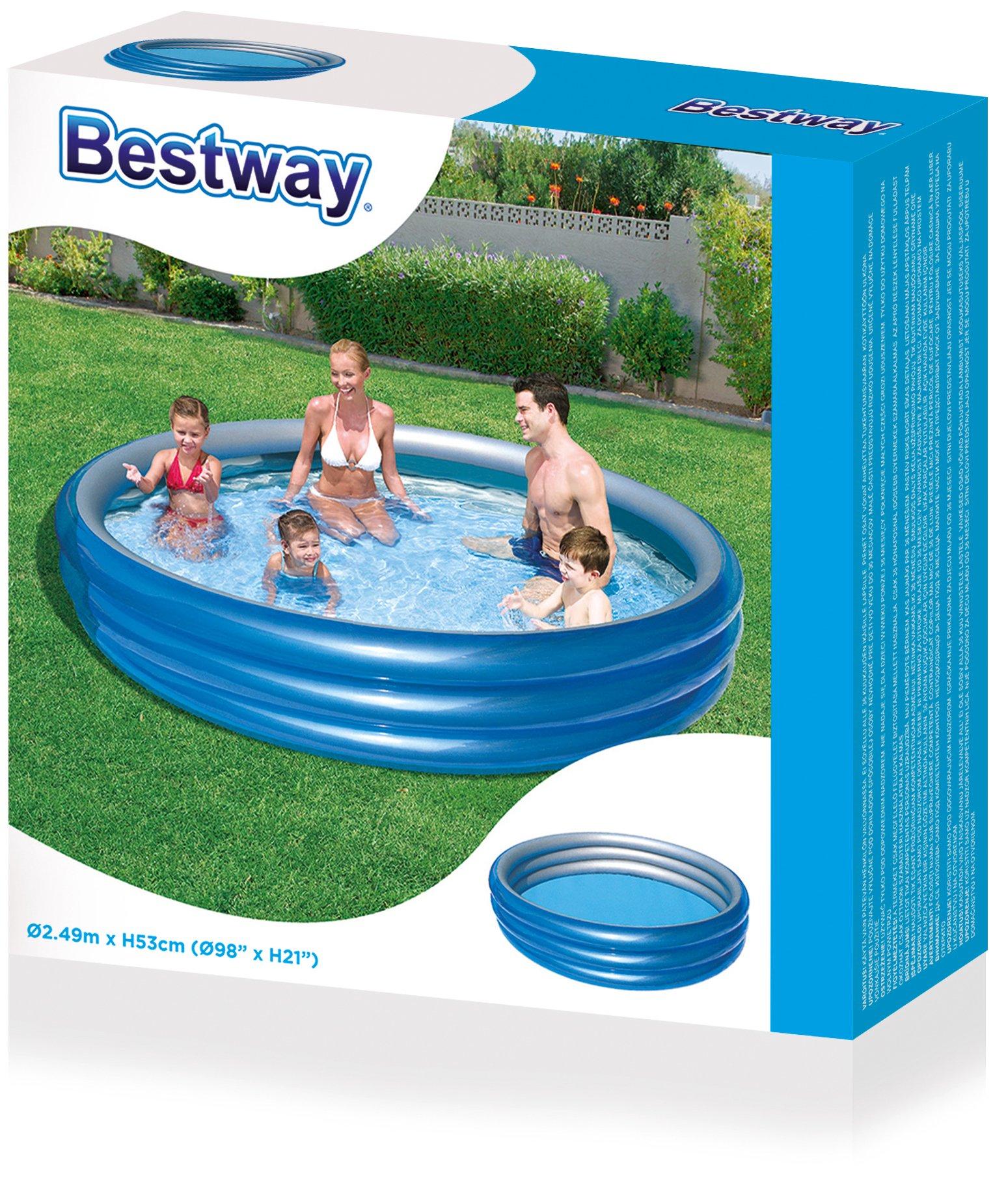 H2OGO! Big Metallic 3-Ring Inflatable Play Pool by Bestway (Image #4)