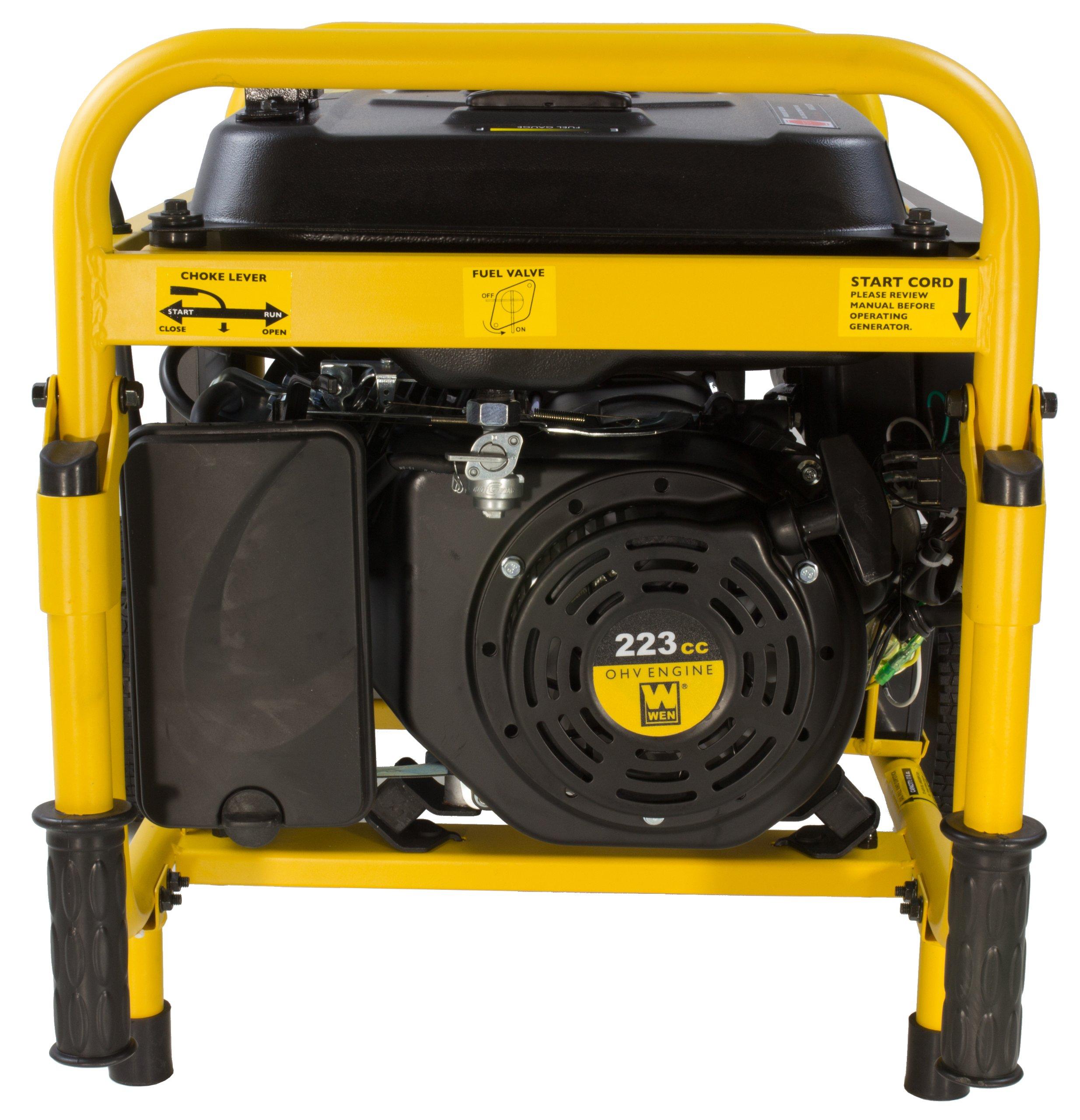 WEN 56475, 3750 Running Watts/4750 Starting Watts, Gas Powered Portable Generator, CARB Compliant