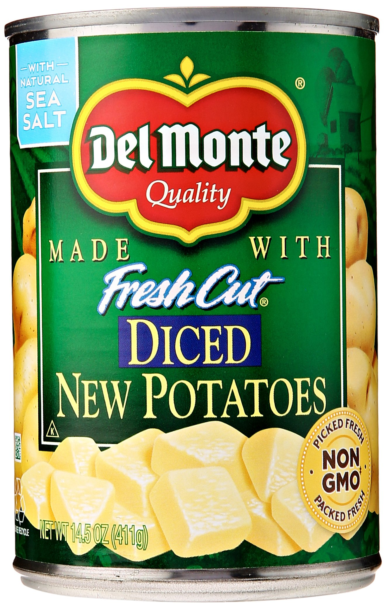 Del Monte Canned Fresh Cut Diced New Potatoes, 14.5-Ounce