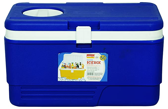 Aristoplast Insulated Chiller Ice Box With Vent Lid,Tap 50 Ltr (Blue)