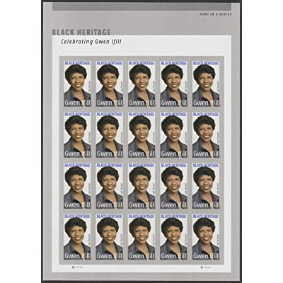Gwen Ifill Black Heritage Sheet of 20 Forever Postage Stamps Scott 5432: Everything Else