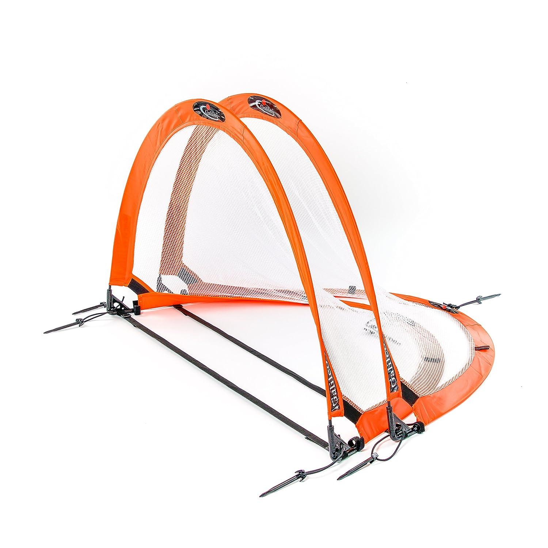 Galileo Pop Up Soccer Goal – 2つポータブルSoccer Nets with Carryバッグ – サイズ4 ' Soccer NetサッカートレーニングNet forクイック再生&トレーニング4サイズ' B076GWRRRT