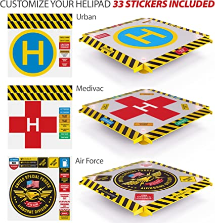 Complete Edition Drones Eagle Pro Remote Control Helicopter Landing Pad Syma Helicopters EPH001 Flashing LED Lights Installed Suitable for RC Helicopters Quadcopters