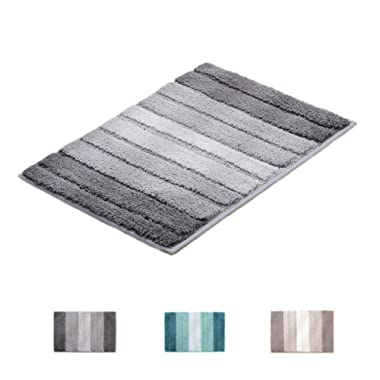 """wovwvool Bathroom Rugs Plush mat Polyester Microfiber Non-Slip,Soft,Absorbent and Machine (Gary Large, 20""""×32"""")"""
