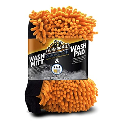 Armor All 19259 Microfiber Car Wash Mitt and Wash Pad for Cars & Truck & Motorcycle: Automotive
