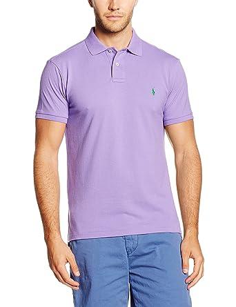 Polo Ralph Lauren Herren Poloshirt SS KC CMFIT PPC Violett (Spring Lilac  A5134) Small 5e90f84d9ed