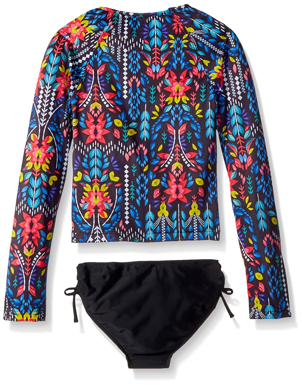 Seafolly Big Girls L//S Surf Set Swimsuit