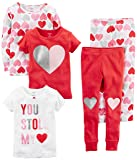 Carter's Baby-Girl 5-Piece Cotton Snug-Fit