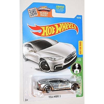 Hot Wheels, 2016 HW Green Speed, Tesla Model S Exclusive ZAMAC 242/250: Toys & Games
