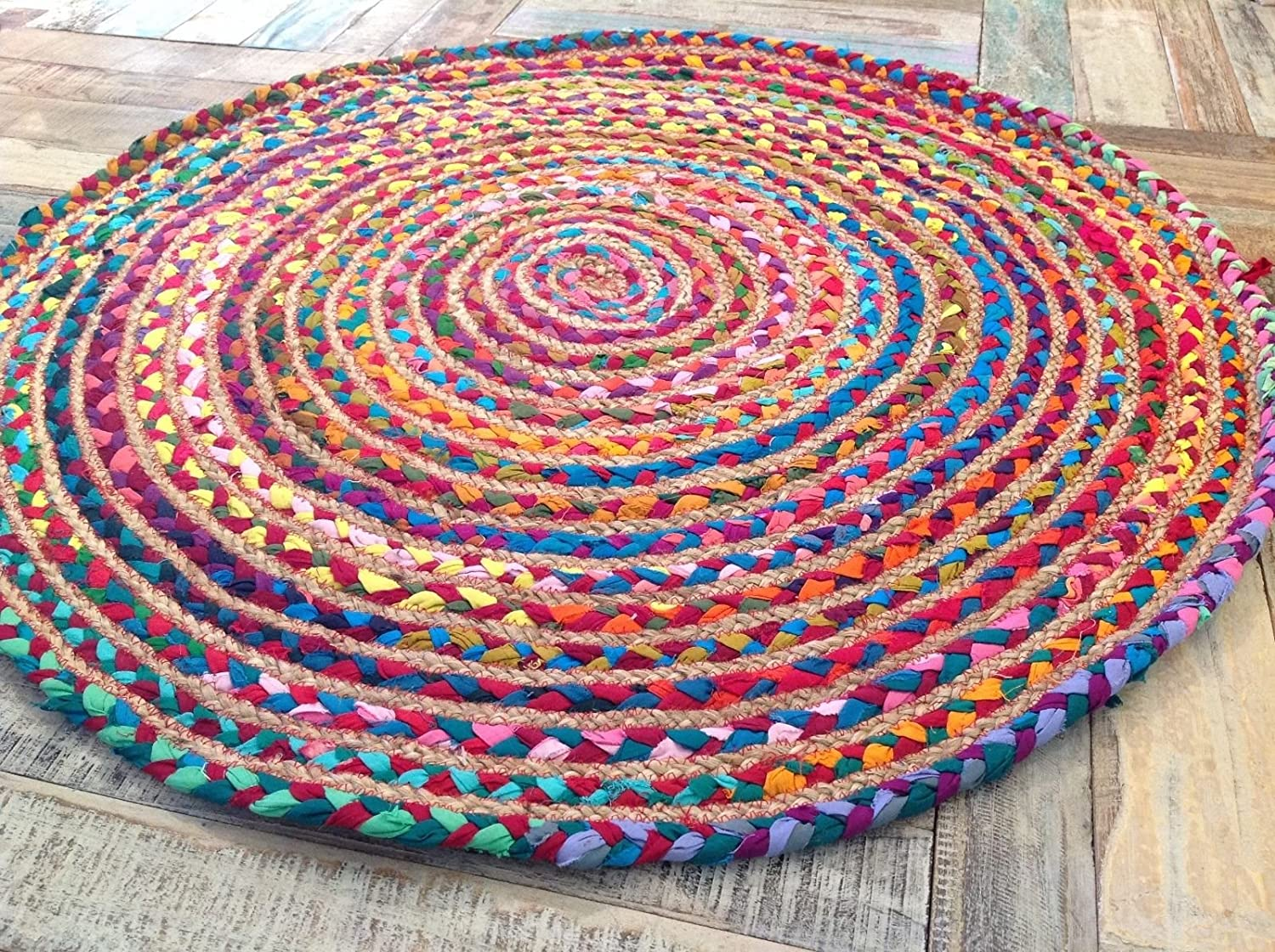 of the retro look shaggy under a circle rugs s rug it table coffee circular round
