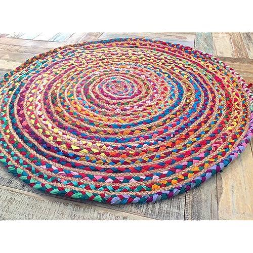 Round Rugs Cotton: Amazon.co.uk