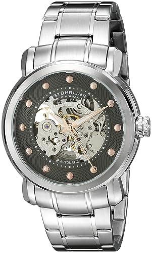 Stuhrling Original Reloj analógico para Hombre de automático con Correa en Acero Inoxidable 644.03: Amazon.es: Relojes