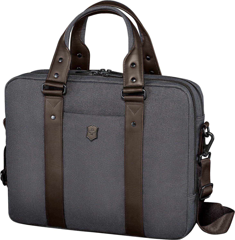Victorinox Architecture Urban Bodmer Laptop Briefcase, Grey/Brown, 12.2-inch