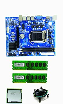 Core I5 650 3.2 GHz + H 55 Intel Chipset Motherboard + 4 GB DDR3 RAM by SCIgwl Motherboards at amazon