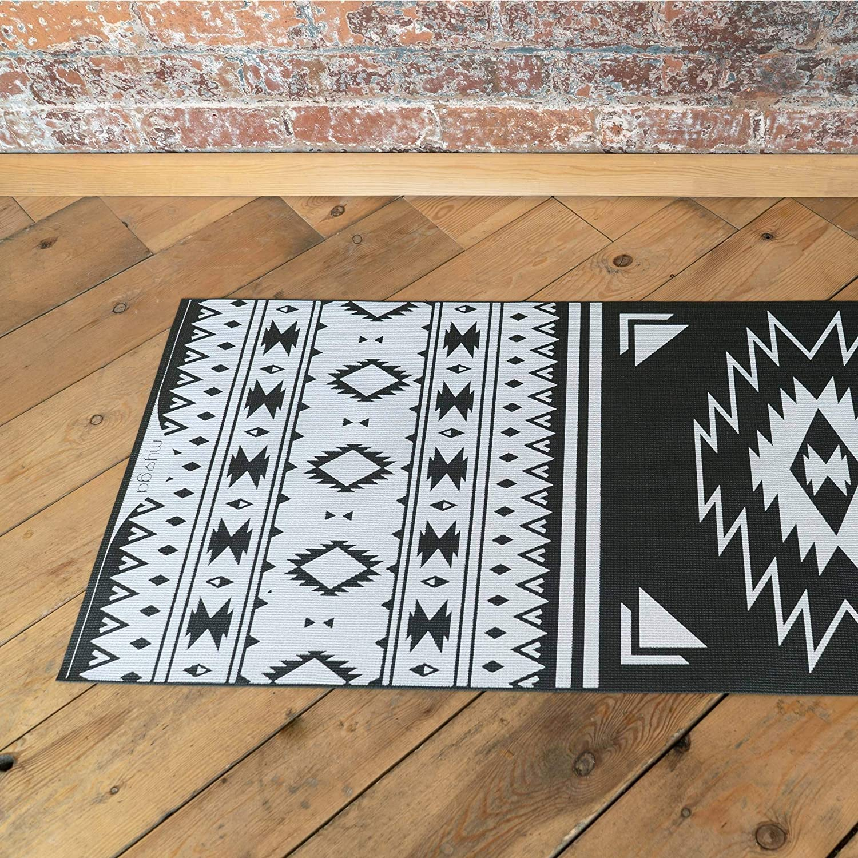 Yoga Studio Travel Non-Slip Multi Purpose Fitness Mat Myga Aztec Printed Yoga Mat Gym Core Workout for Home Exercise Mat for Pilates