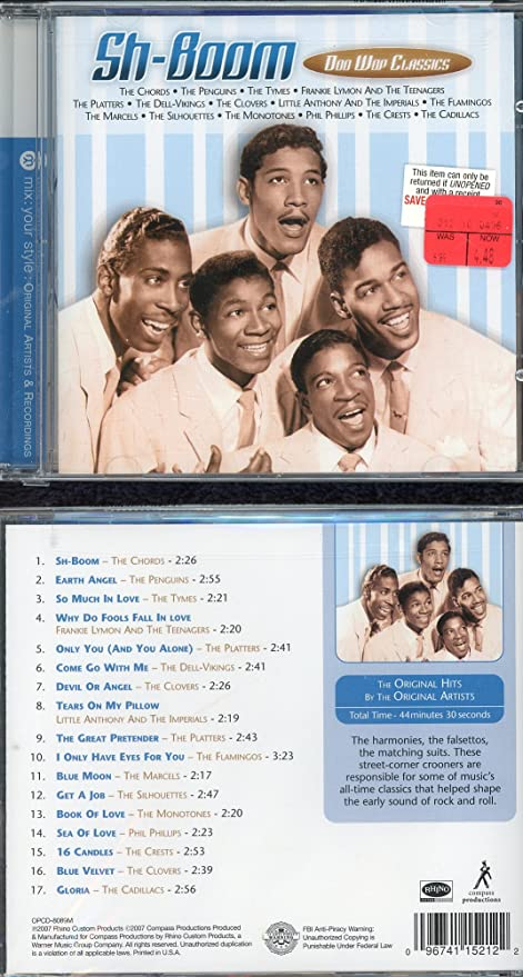 Amazon Sh Boom Doo Wop Classics The Chords Sports Outdoors