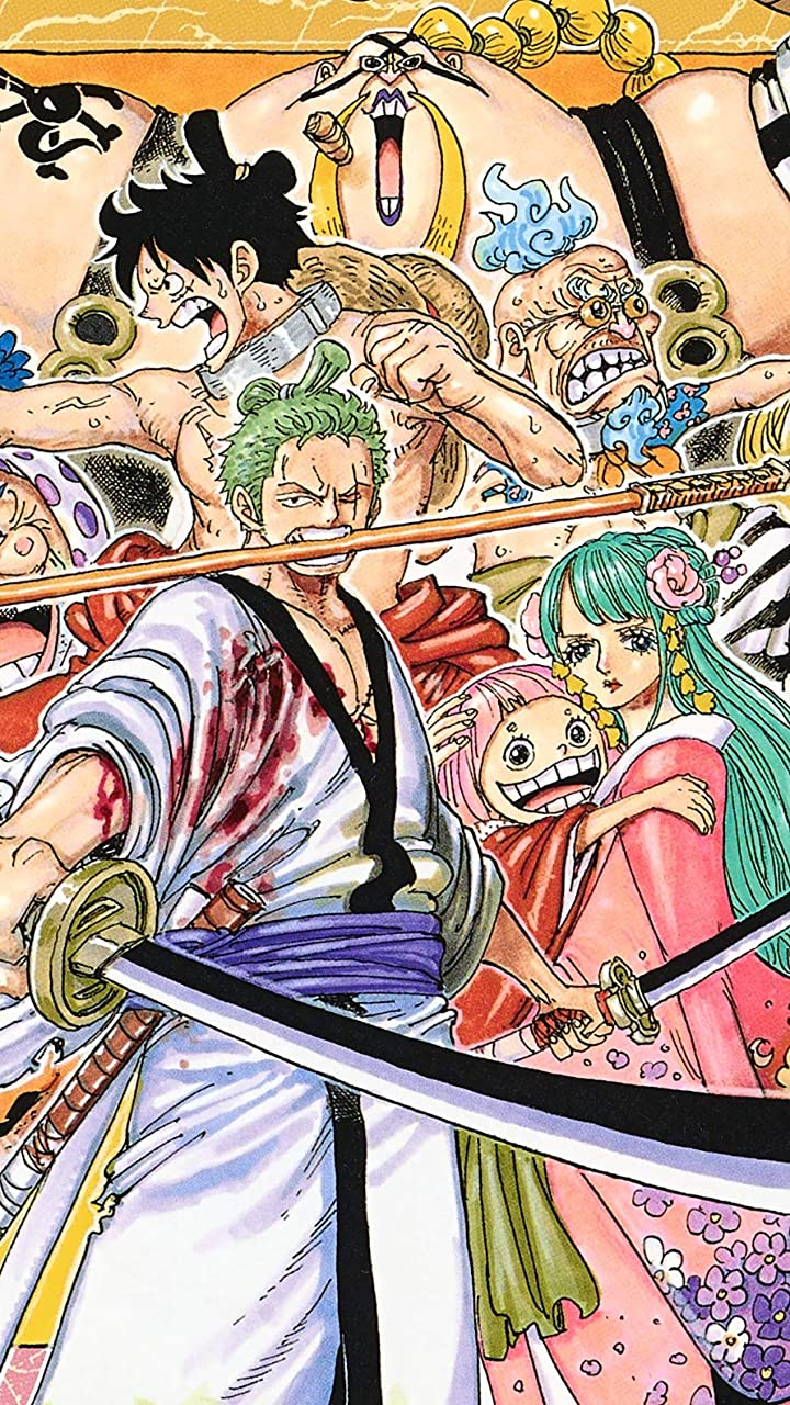 One Piece Hd 720 1280 壁紙 ワノ国 ゾロ 光月日和 おトコ ルフィ他