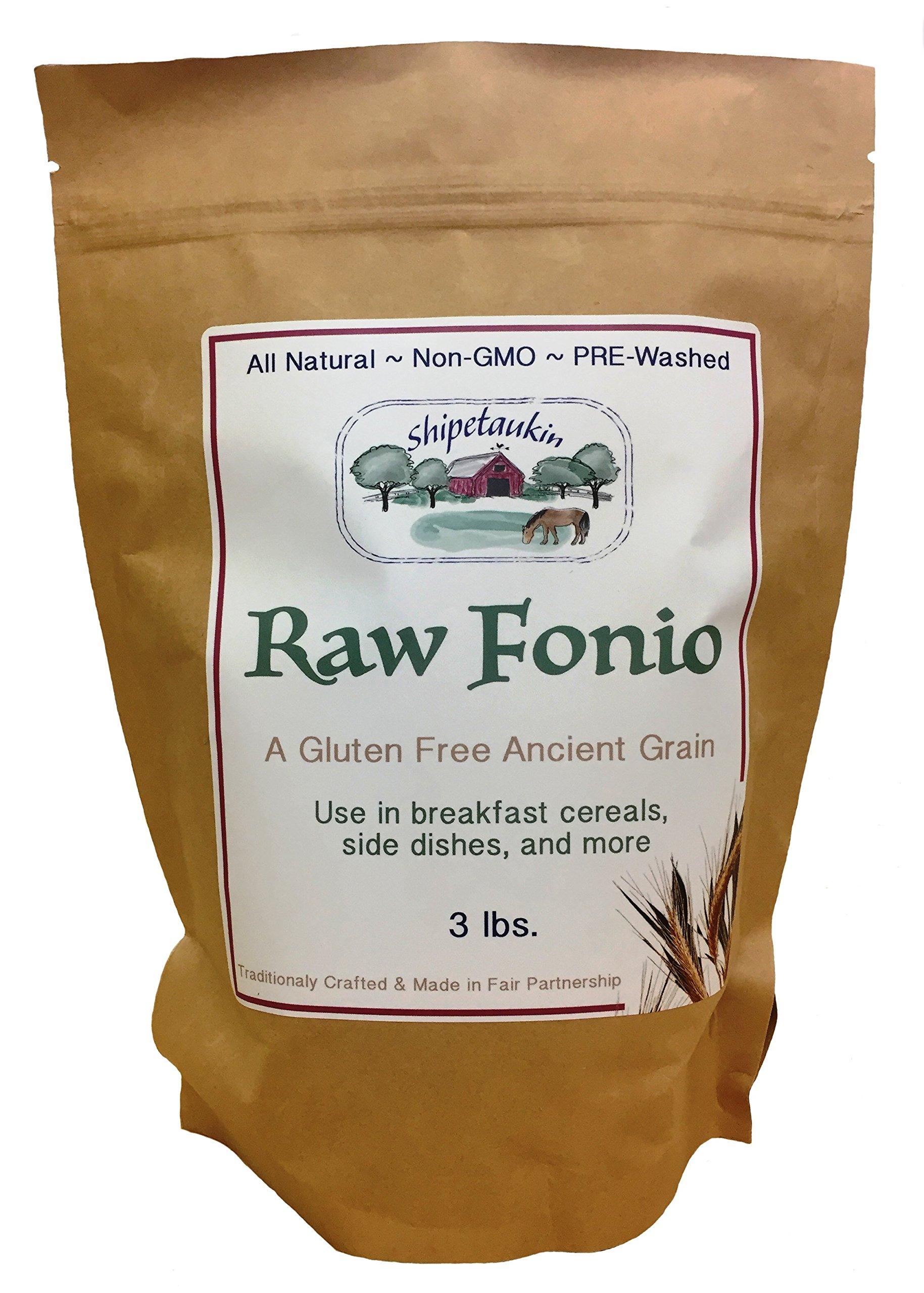 Shipetaukin Raw Fonio Ancient African Grain, 3 Lbs.