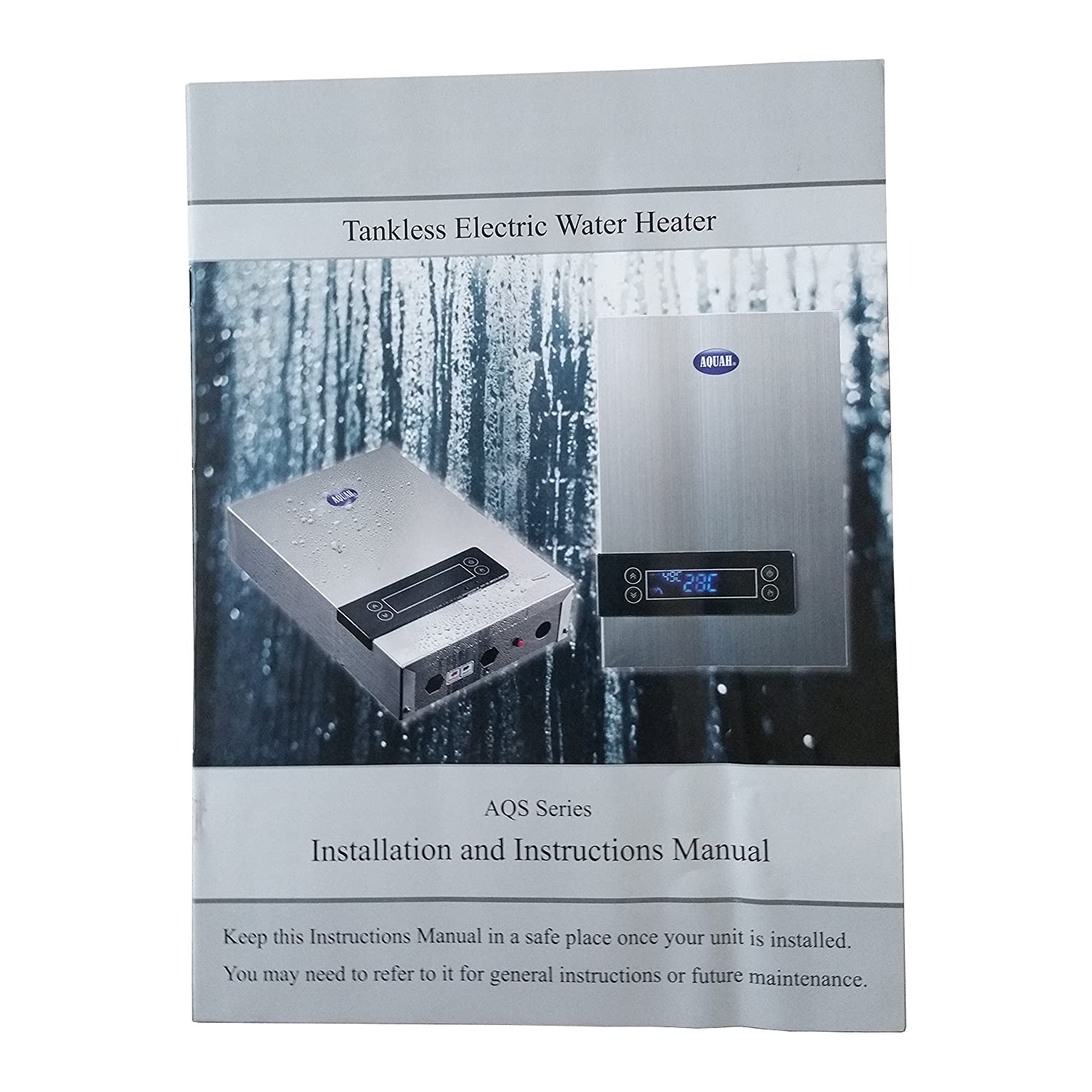 AQUAH 27 KW ON-DEMAND ELECTRIC TANKLESS WATER HEATER WHOLE HOUSE ...