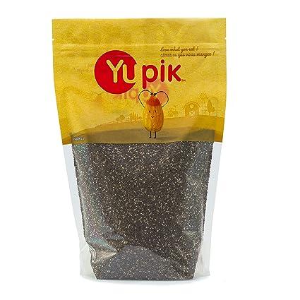 Yupik Negro Chia semillas, 1 kg – Puede Variar del paquete ...