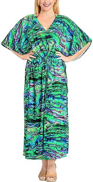 Likre Traje de baño de la Playa Kimono Ropa de Dormir la Noche caftán más tamaño Vestido de caftán: Amazon.es: Ropa y accesorios
