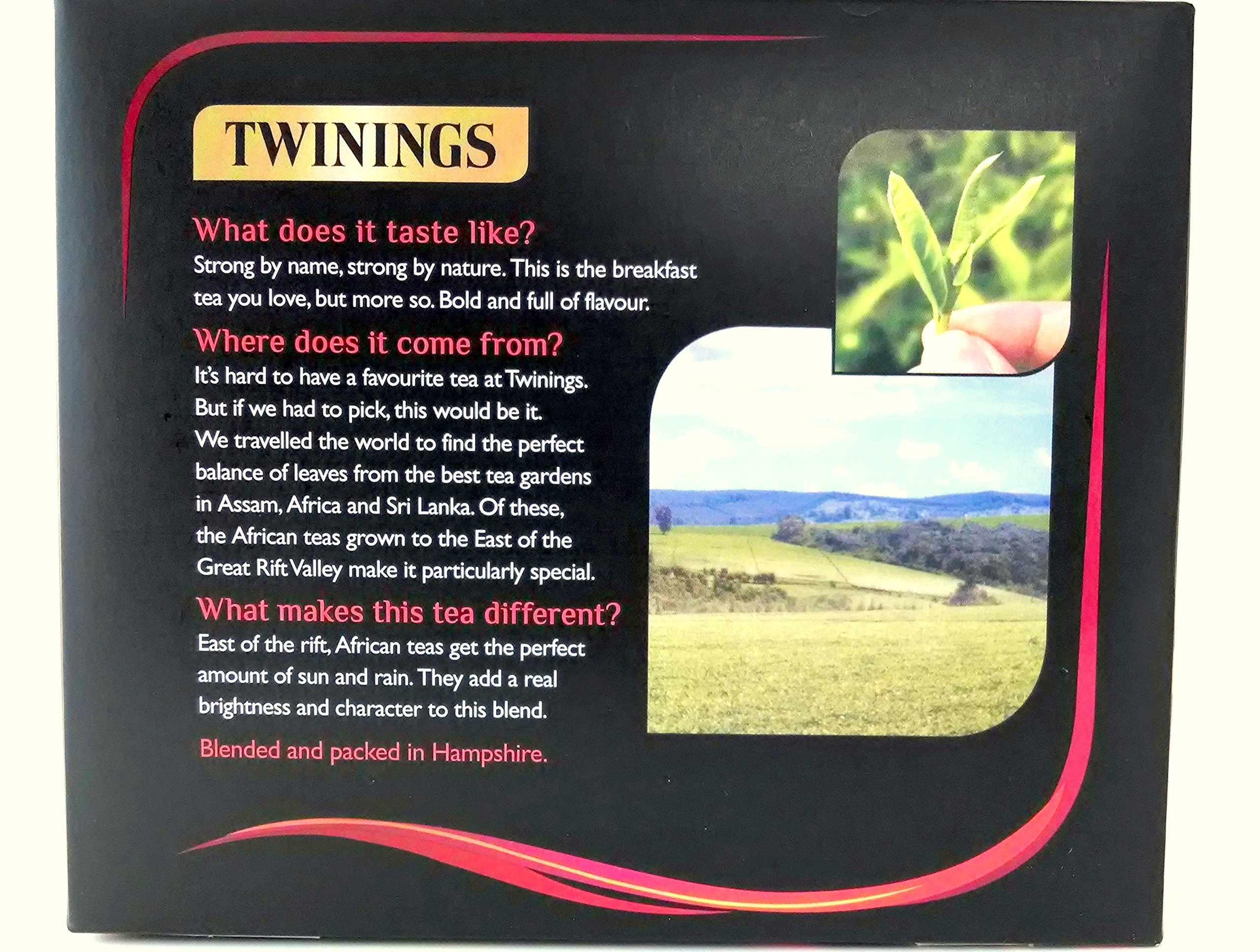 Twinings 1706 English Strong Breakfast Tea, 80 Tea Bags, 250g (Pack of 3)