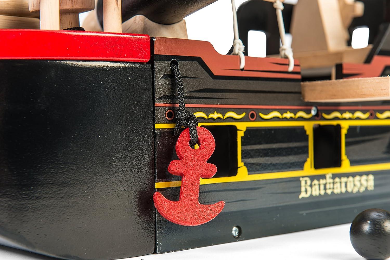 Le Toy Van TV246 Bois Bateau Pirates Barbarossa