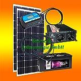 260 Watt Insel Solaranlage für Garten uvm. Komplett SET inklusive Montagematerial für Pfannendach