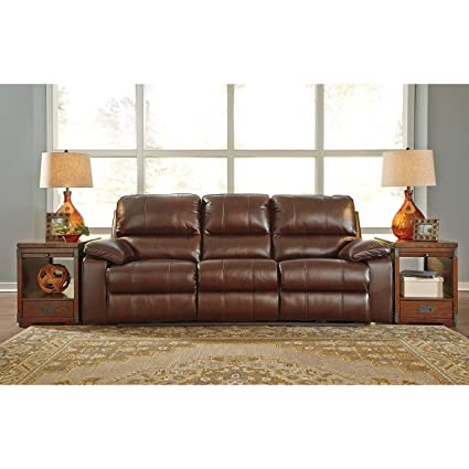 Superb Signature Design By Ashley 5130215 Power Reclining Sofa, Coffee