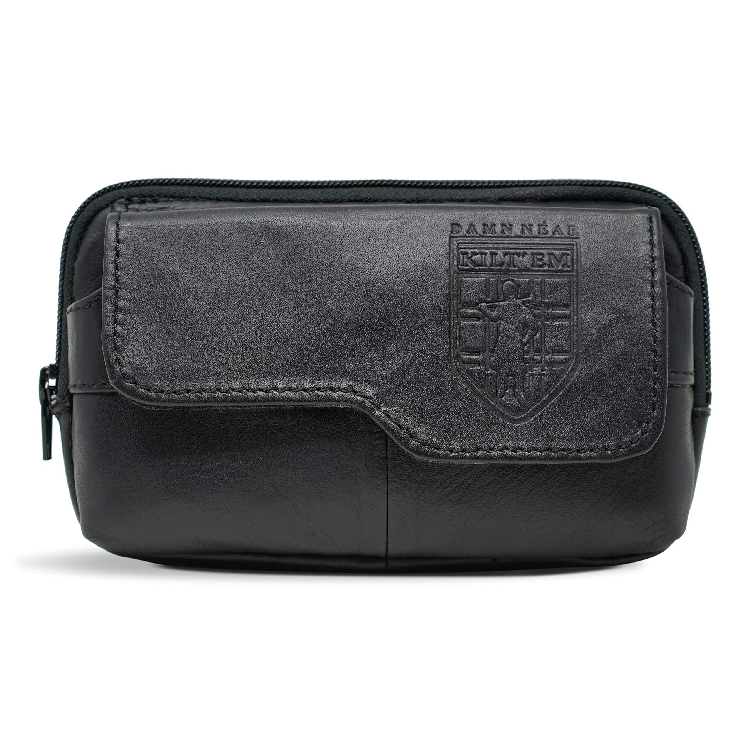 Damn Near Kilt 'Em Premium Utility Satchel Kilt Accessory Parent Black Leather