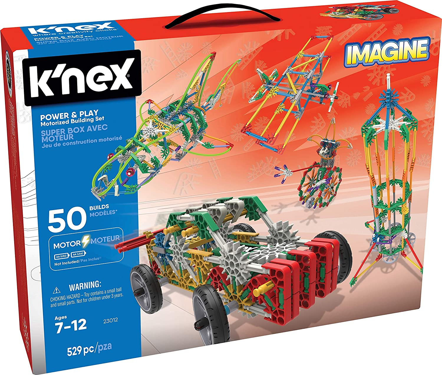 K'NEX Imagine – Power and Play Motorized Building Set – 529 Pieces – Ages 7 and Up – Construction Educational Toy K' NEX 23012