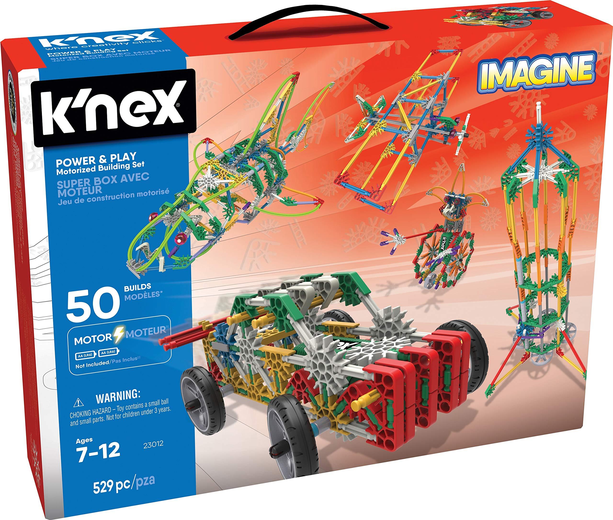 K/'Nex 25525 Imagine 12 Model Cars Building Set Engineering Education Toy New